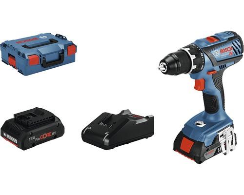 Borrskruvdragare BOSCH GSR 18V-28 inkl. 2 batterier (1x2Ah & 1x4Ah) och laddare
