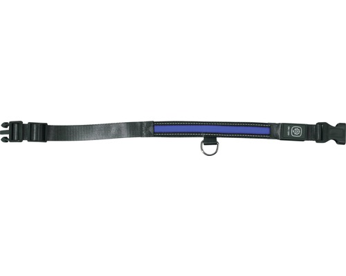 Halsband DOBAR LED 25mm 44-52cm blått