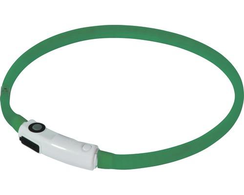 Halsband DOBAR LED-silikonslinga 10mm 30-70cm grön