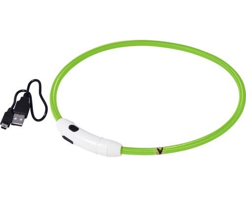 Halsband DOBAR LED-nylonslinga 8mm 34-64cm grönt