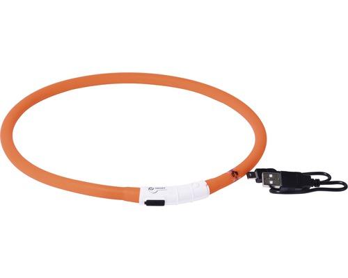 Halsband DOBAR LED-silikonslinga 10mm 30-70cm orange