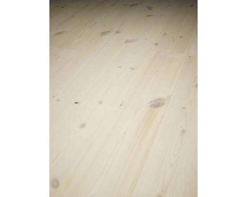 Massivt trägolv Softpine Dolomit vit ekonomi 14x137 mm