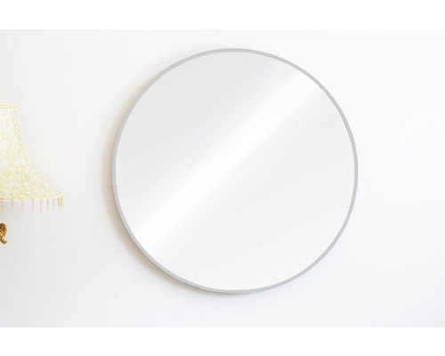 Spegel THE WALL Bern silver aluminiumram rund 60cm