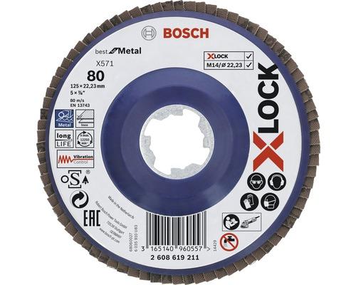 Lamellslipsliva BOSCH Best for Metal Ø 125x22,23mm K80 X-LOCK-fäste