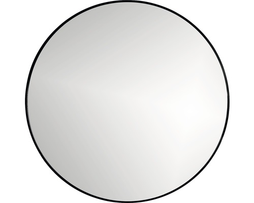 LED-Spegel Ø80cm svart