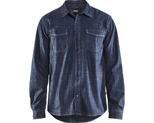 Skjorta BLÅKLÄDER denim marinblå strl. L