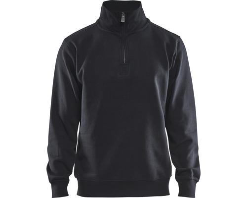 Sweatshirt BLÅKLÄDER med krage svart strl.XXL