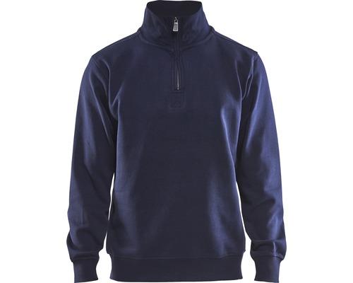 Sweatshirt BLÅKLÄDER med krage marinblå strl. XL