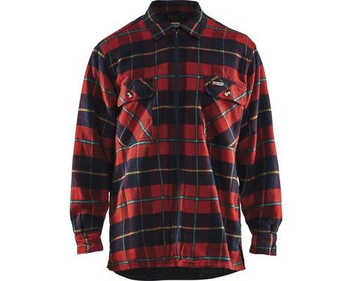 Flanellskjorta BLÅKLÄDER fodrad röd/marinblå M