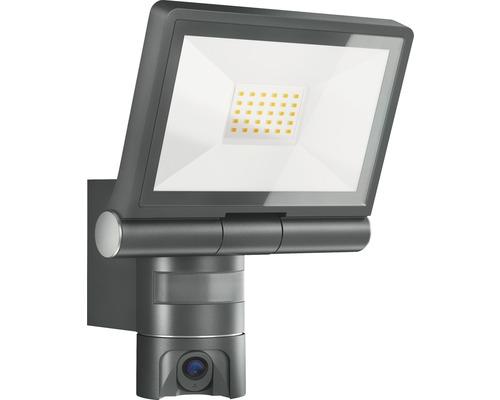 Strålkastare STEINEL XLED CAM 1 med rörelsevakt IP44 21W 2200lm 3000K varmvit BxH 210/275mm + 8GB SD-minneskort