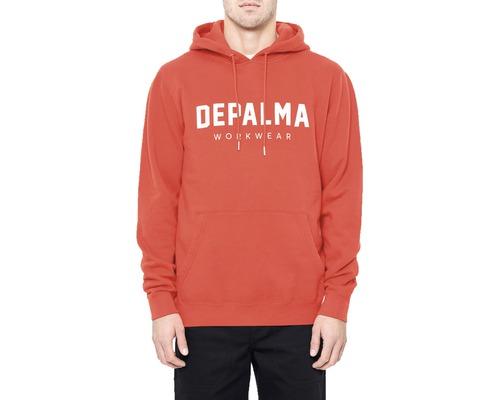 Hoodie DEPALMA Logo röd strl. L