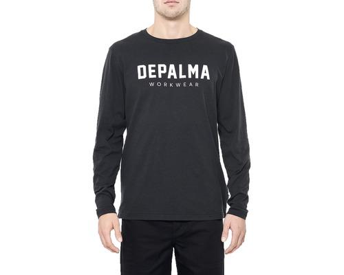 T-Shirt DEPALMA Logo långärmad svart strl. M