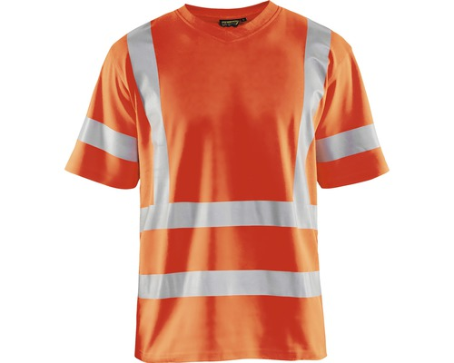 Varsel T-shirt BLÅKLÄDER UV-skyddad varselorange strl. 4XL