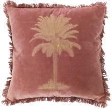 Kudde sammet SOLEVITO Palm 45x45cm gammelrosa