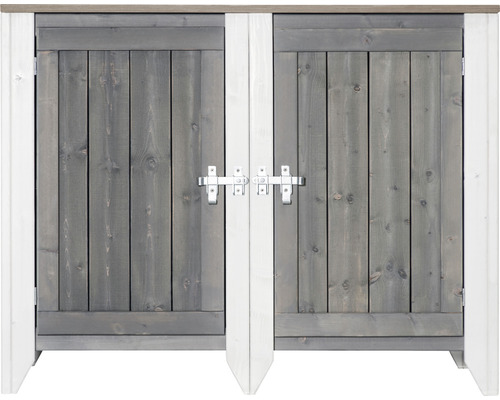 Utekök KONSTA typ 561 sideboard inkl. 2 dörrar 115x60x88cm ljusgrå-creme