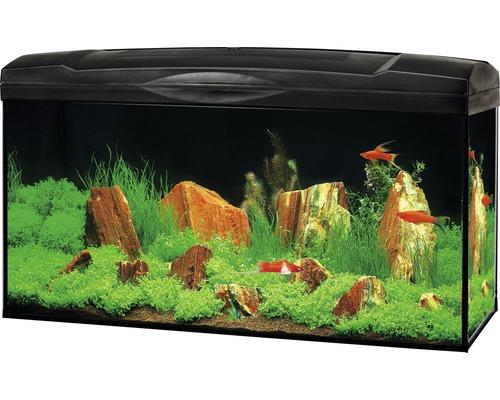 Akvarium MARINA Complete 54 inkl. LED-belysning, filter, värmare, foder svart