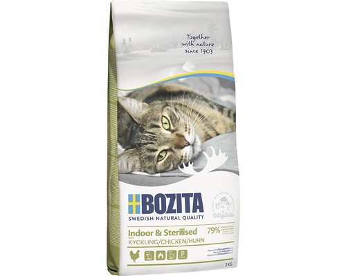 Kattmat Bozita Indoor&Sterilized 2kg