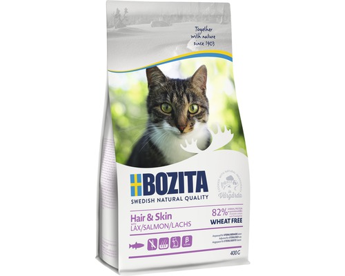 Kattmat Bozita Hair & Skin Wheat free Salmon 400g