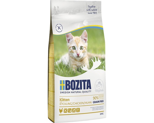 Kattmat Bozita Kitten Grain free Chicken 10kg