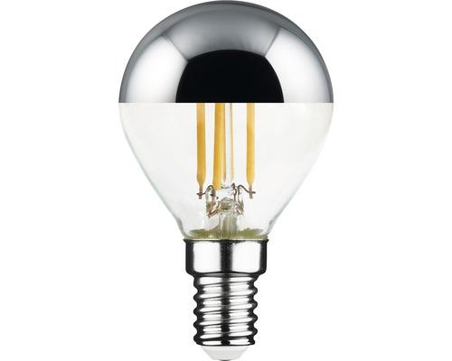 Klotlampa FLAIR LED filament toppförseglad E14 4,5W 380lm 2700K varmvit silver