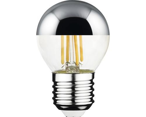 Klotlampa FLAIR LED filament E27 toppförseglad silver ej dimbar
