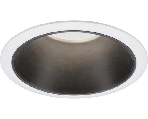 Downlight PAULMANN Cole LED 6,5W 460lm 2700K varmvit Ø 80/88mm IP44 dimbar vit/svart