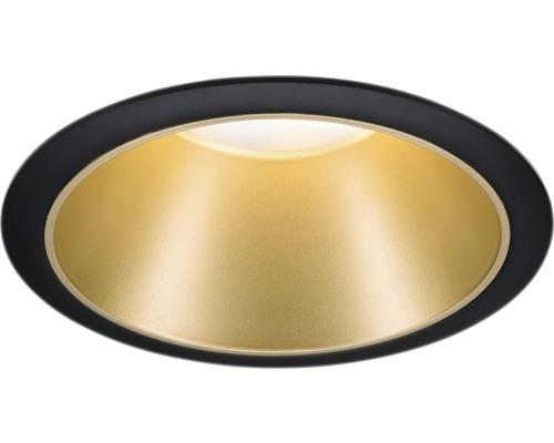Downlight PAULMANN Cole LED 6,5W 460lm 2700K varmvit Ø 80/88mm IP44 dimbar svart/guld
