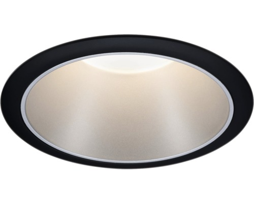 Downlight PAULMANN Cole LED 6,5W 460lm 2700K varmvit Ø 80/88mm IP44 dimbar svart/silver