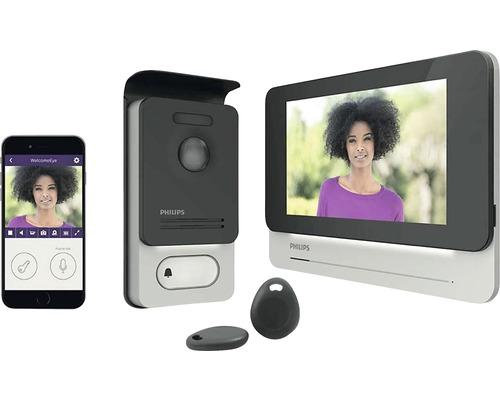 PHILIPS Porttelefon med kamera WelcomeEye Connect komplettset silver/svart