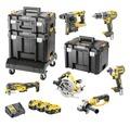 Verktygspaket DEWALT DCK685P3T-QW 6 maskiner 3 batterier 1 laddare 18V