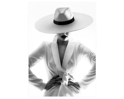 Poster White Hat 50x70mm