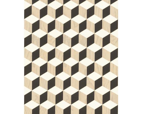 Tapet RASCH Grafisk vit brun