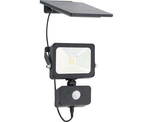 LED strålkastare solcellslampa med sensor 800lm svart