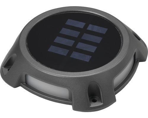 Markspot LED solcell IP67 4x0,2W 5 lm 5500/6000 K kallvit HxTxB 25x120x120mm grå
