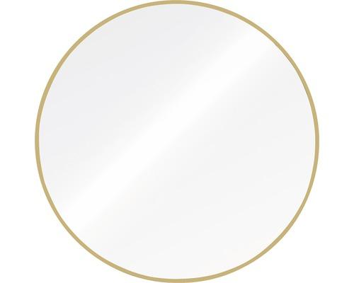 Spegel THE WALL Bern aluminiumram guld rund 60cm