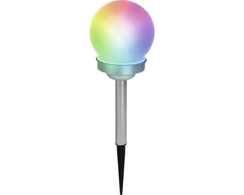 Solcellslampa LED Kula RGBW IP44 Ø 100mm vit/rostfri