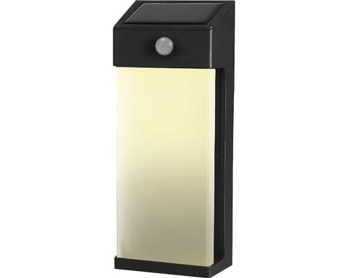 Solcellslampa LED vägglampa med sensor IP44 HxB 206x83mm svart/vit