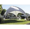 Paviljong LECO kupoltält 5x5x3,50m ljusgrå