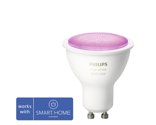 Ljuskälla PHILIPS Hue White & Color Ambiance LED GU10 5,7W 350lm 2000-6500K MR16 dimbar - kompatibel med SMART HOME by hornbach