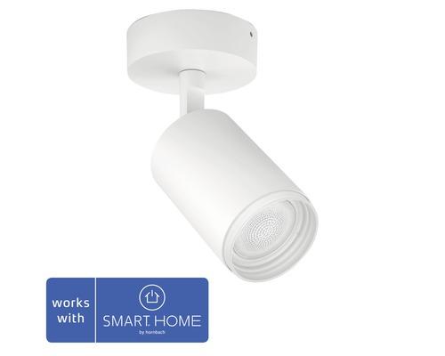 Väggspotlight PHILIPS Hue Fugato LED White & Color Ambiance 6,5W 350lm dimbar RGB-färgväxlare vit - kompatibel med SMART HOME by hornbach