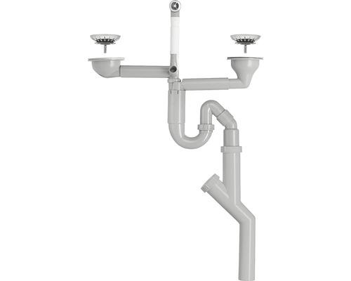 Vattenlås CONTURA Pro dubbellåda korgv.