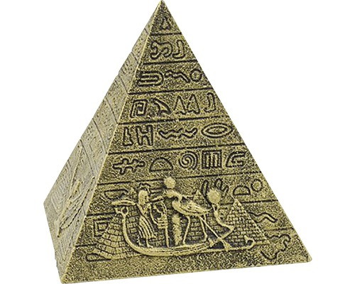 Akvariedekoration Gyllene Pyramid