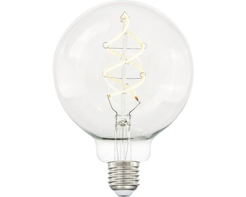 LED-lampa COTTEX Curly filament klar glob E27 4W 300lm stepdim