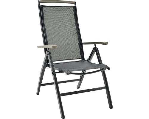 Positionsstol HILLERSTORP Nydala aluminium textilen svart/grå