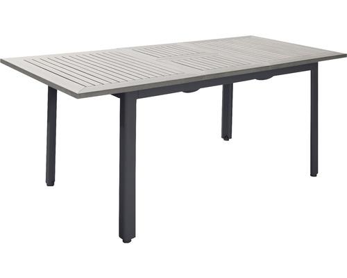 Trädgårdsbord HILLERSTORP Nydala 90x150/200cm grå/svart