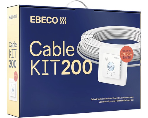 Golvvärme EBECO Cable Kit 200 150 W 13,5 m