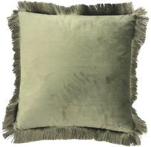 Kudde Velvet olivgrön 45x45cm