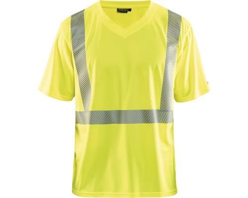 Varsel-T-shirt BLÅKLÄDER UV-skyddad varselgul S