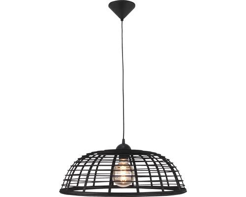 Taklampa BRILLIANT Crosstown HxØ 1200x470mm metall/bambu svart