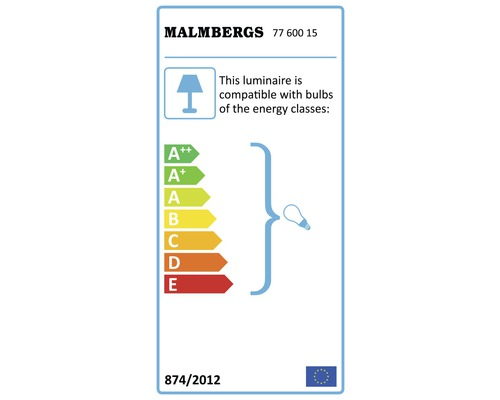Pollare MALMBERGS Asti LED IP44 E27 20W mörkgrå